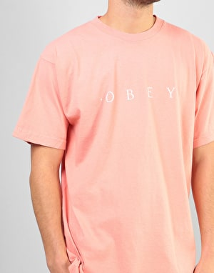 Obey Novel Obey T-Shirt - Coral