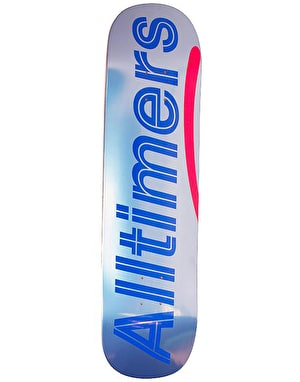 Alltimers Shiny Blues Logo Skateboard Deck - 8.5
