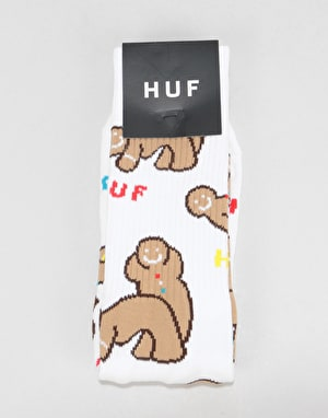HUF Ginger Love Socks - White