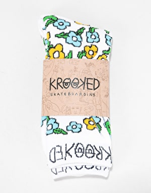 Krooked OG Sweatpants Socks - White/Multi