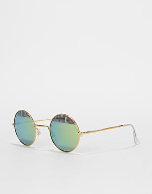 Route One Round Sunglasses - Gold