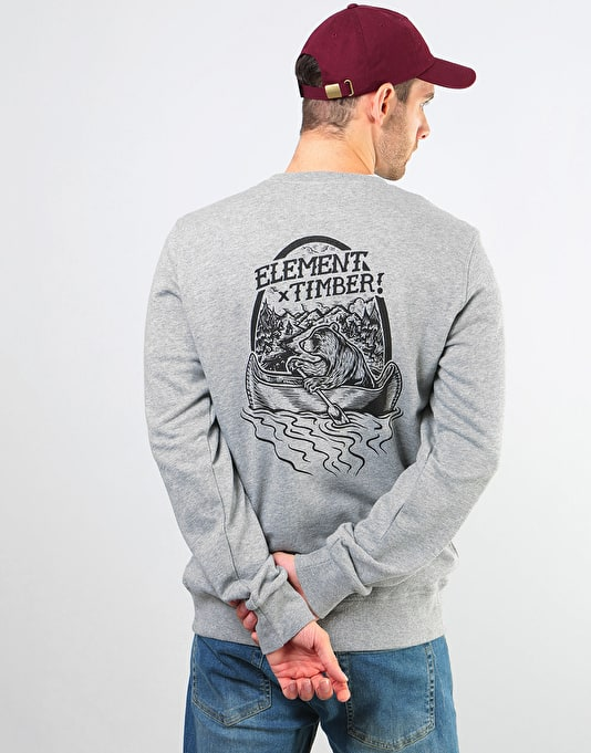 Element Roar N Row Crew - Grey Heather