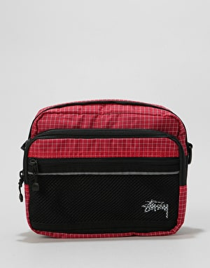 Stüssy Ripstop Nylon Shoulder Body Bag - Red