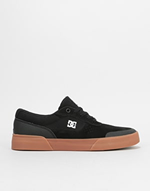 DC Switch Plus S Skate Shoes - Black/Gum