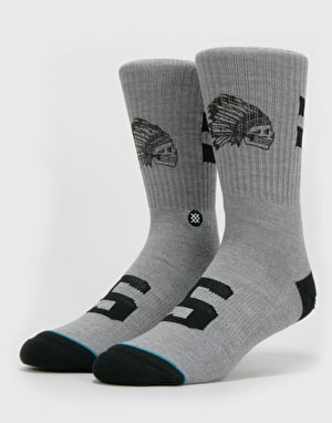 Stance Classic Crew Warfare Socks - Grey