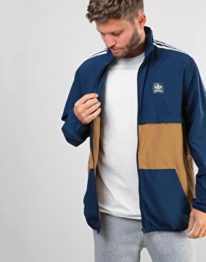 Adidas Class Action Jacket - Collegiate Navy/Raw Desert/White