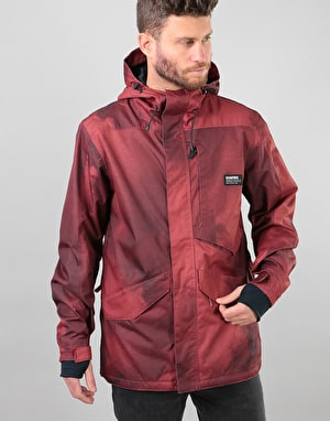 Bonfire Vector 2018 Snowboard Jacket - Maroon Oil Fade