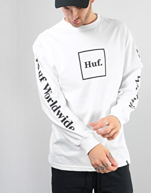 HUF Domestic Box L/S T-Shirt - White