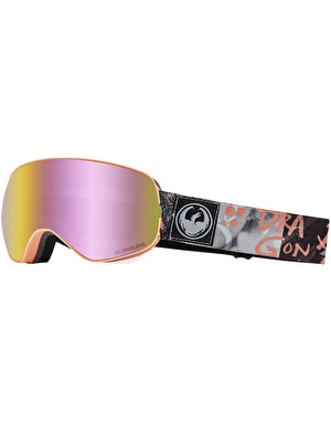 Dragon X2s 2019 Snowboard Goggles - Flaunt/LUMALENS® Pink Ion