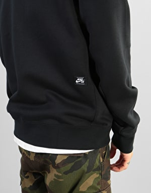 Nike SB Icon Essential FZ Hoodie - Black/Black