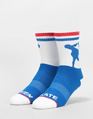 Lovenskate x Apart Together Socks - White/Blue