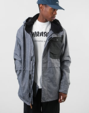Sessions Wire 2019 Snowboard Jacket - Acid Wash/Black