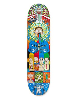 Primitive x Rick & Morty Collage Skateboard Deck - 8