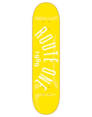 Route One Arch Logo Skateboard Deck - 7.75