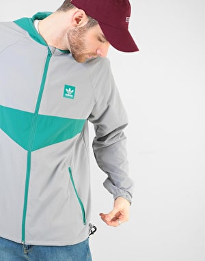 Adidas Dekum Packable Jacket - Light Granite/Active Green