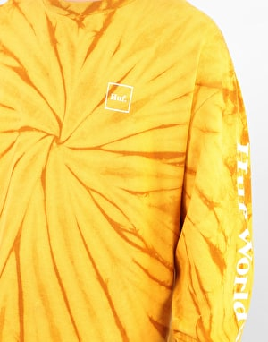 HUF Domestic Tie Dye L/S T-Shirt - Honey Mustard