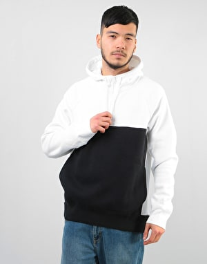 Nike SB Icon Blocked Pullover Hoodie - White/Black/White