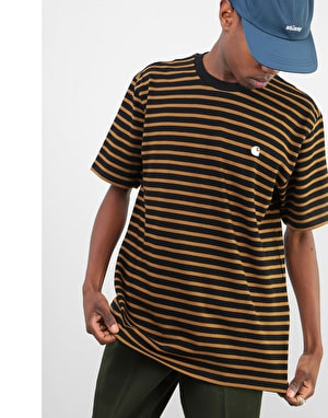Carhartt Robie T-Shirt - Black/Hamilton Brown/Wax