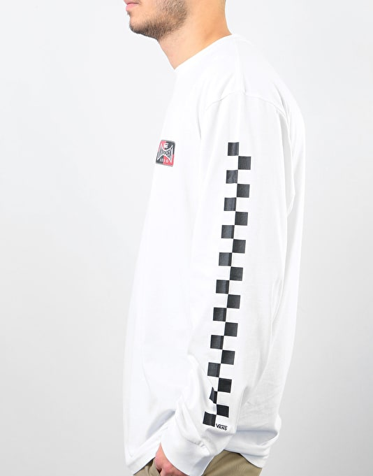 Vans x Independent Checkerboard L/S T-Shirt - White