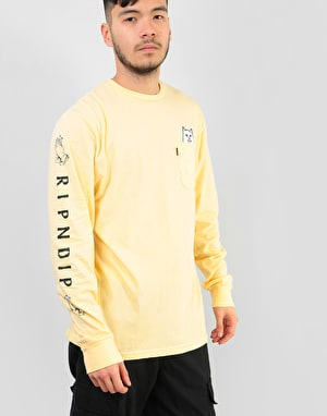 RIPNDIP Lord Nermal Pocket L/S T-Shirt - Banana