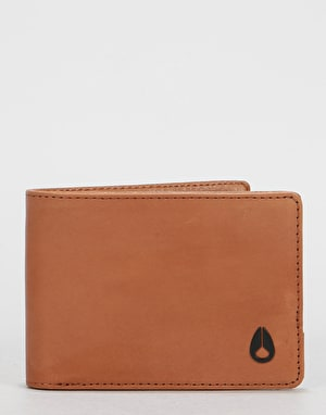 Nixon Heros Bi-Fold Leather Wallet - Tan