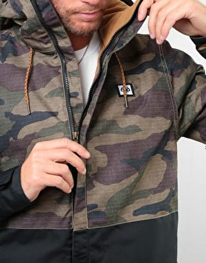 686 Foundation Insulated 2019 Snowboard Jacket - Dark Camo Colourblock