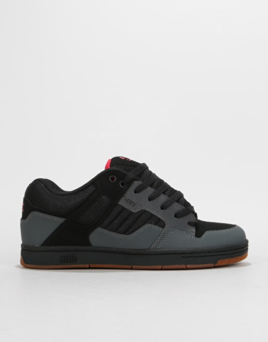 DVS Enduro 125 Skate Shoes - Charcoal/Black Leather/Nubuck