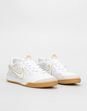 Nike SB Gato Skate Shoes - White/White-Metallic Gold