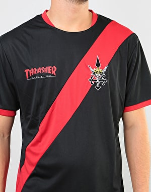 Thrasher Futbol Jersey - Black/Red