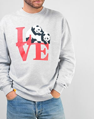 Enjoi Love Crew Sweatshirt - Heather Gray
