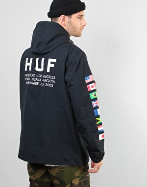 HUF Regional Tour Anorak Jacket - Black