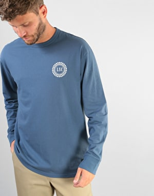 Levi's Skateboarding Taxi Badge L/S T-Shirt - White/Blue
