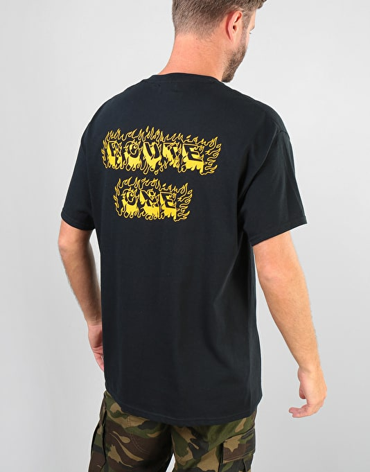 Route One Flames T-Shirt - Black