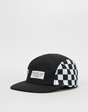 The Quiet Life Checker 5 Panel Cap - Black/Checker
