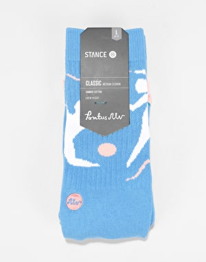 Stance x Polar Dance With Me Classic Crew Socks - Blue