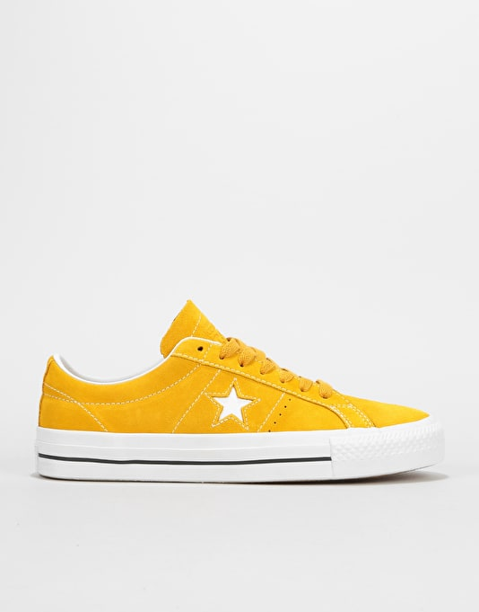 Converse One Star Pro Ox Skate Shoes - Mineral Yellow/White/Black