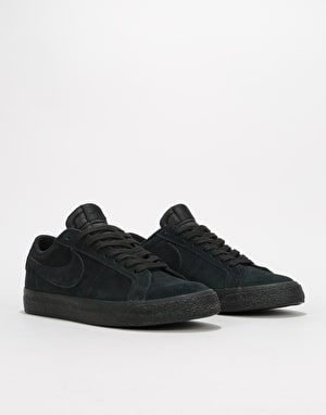 Nike SB Zoom Blazer Low Skate Shoes - Black/Black-Gunsmoke