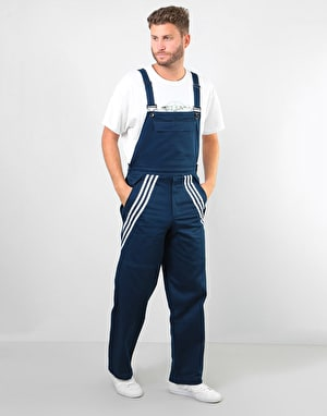 Adidas Chino Bib Trousers - Collegiate Navy/White