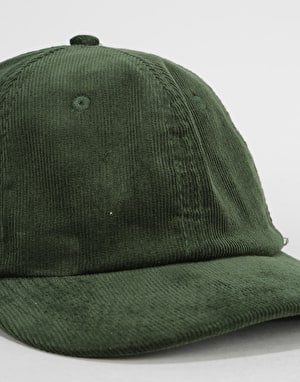 Route One Vintage Cord Dad Cap - Dark Olive