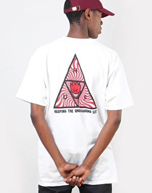 HUF x Spitfire Triple Triangle T-Shirt - White