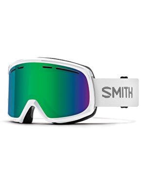 Smith Range 2019 Snowboard Goggles - White/Green Sol-X Mirror