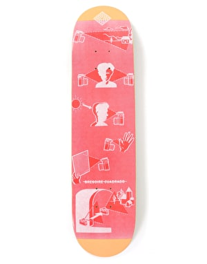 The National Skateboard Co Cuadrado Photo Club Skateboard Deck - 8.25
