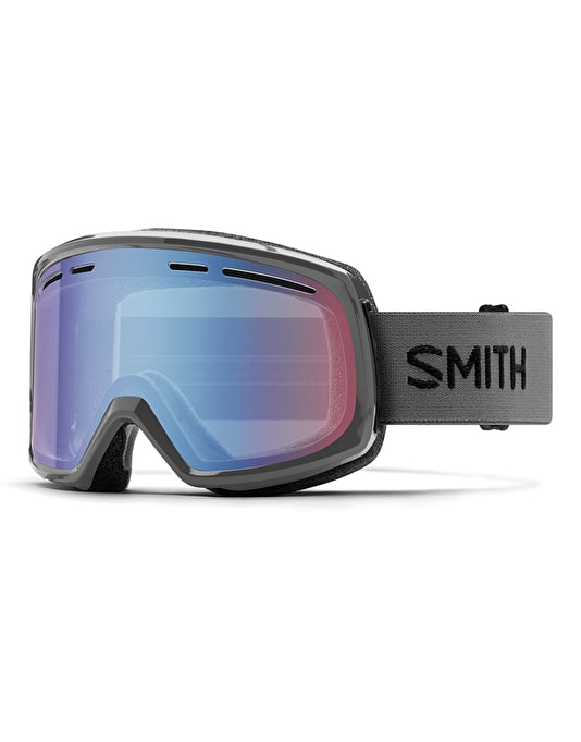 Smith Range 2018 Snowboard Goggles - Charcoal/Blue Sensor Mirror