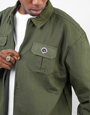 Magenta Army Lined Coach Jacket - Khaki
