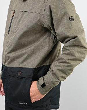 686 Anthem Insulated 2019 Snowboard Jacket - Khaki Melange Colourblock