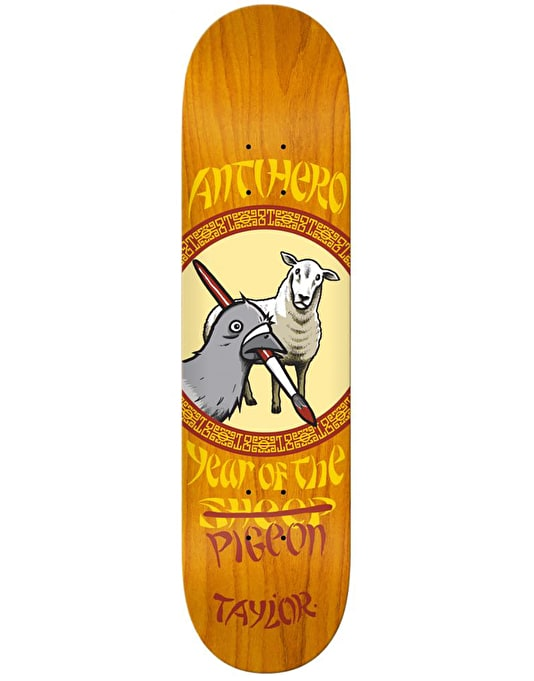 Anti Hero Taylor Year of the Pigeon Skateboard Deck - 8.06""