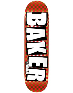 Baker Herman Brand Name Check Foil Skateboard Deck - 8.5