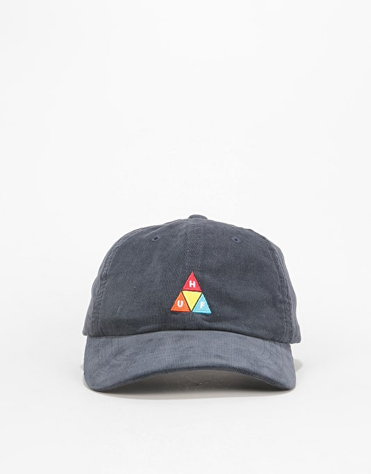 HUF Corduroy Triple Triangle 6 Panel Cap - Moon Indigo