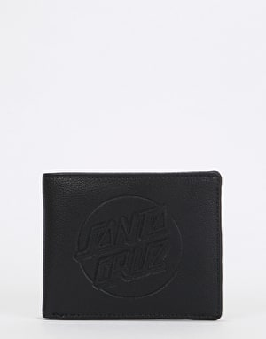 Santa Cruz Embossed Dot Bi-Fold Wallet - Black