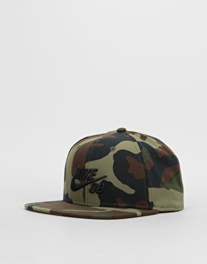 Nike SB Icon Snapback Cap - Medium Olive/Black